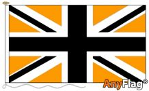 UNION JACK BLACK AND GOLD ANYFLAG RANGE - VARIOUS SIZES